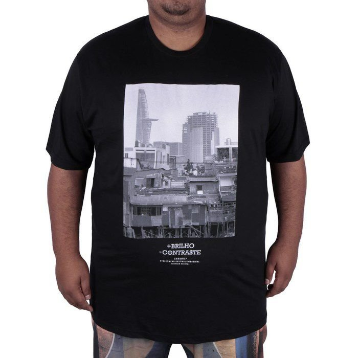CAMISETA CHRONIC CITY 1643 AFH BIG - PRETA