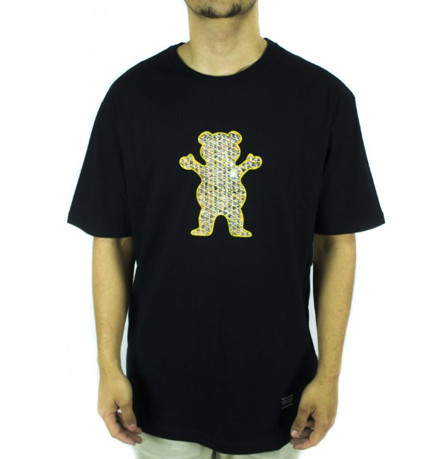 CAMISETA GRIZZLY BIEBEL PRO BEAR TEE - BLACK