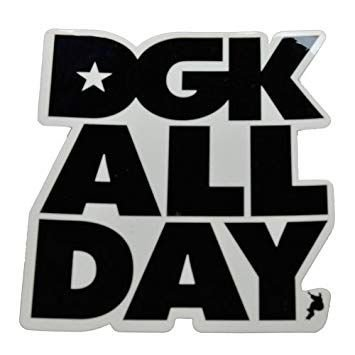 Adesivo Stickers DGK DGK all Day  Skateboarding