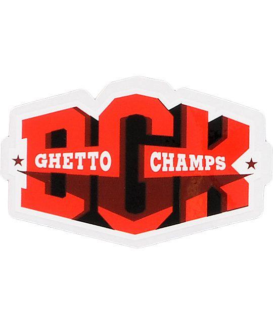 Adesivo stickers DGK Ghetto Champs Red & Black Sticker