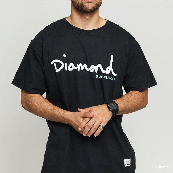 CAMISETA DIAMOND OG SCRIPT OVERDYE - BLACK