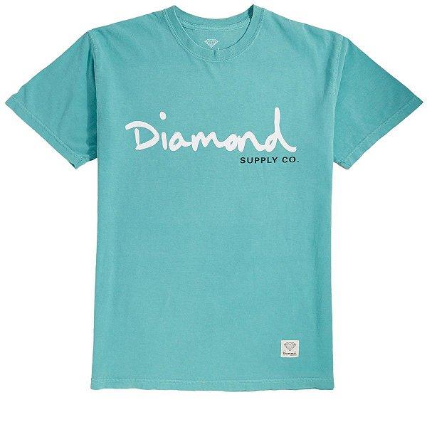CAMISETA BIG DIAMOND OG SCRIPT OVERDYE - BLUE