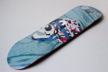 "SHAPE ASPECTO DECKS SERIE WAR GREEN 8.125""- heat transfer + LIXA GRÁTIS"