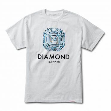 Camiseta Diamond Asscher Cut Masculina - Cinza