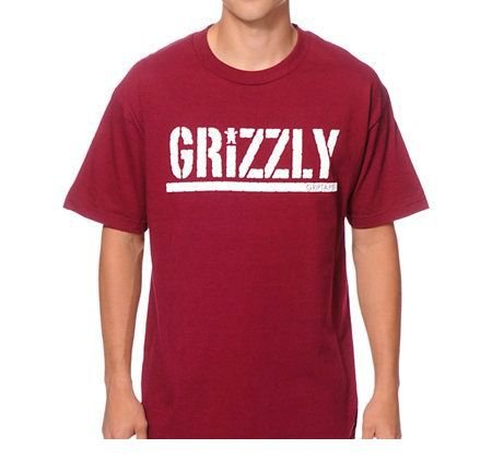 CAMISETA GRIZZLY STAMPED RED HEATHER