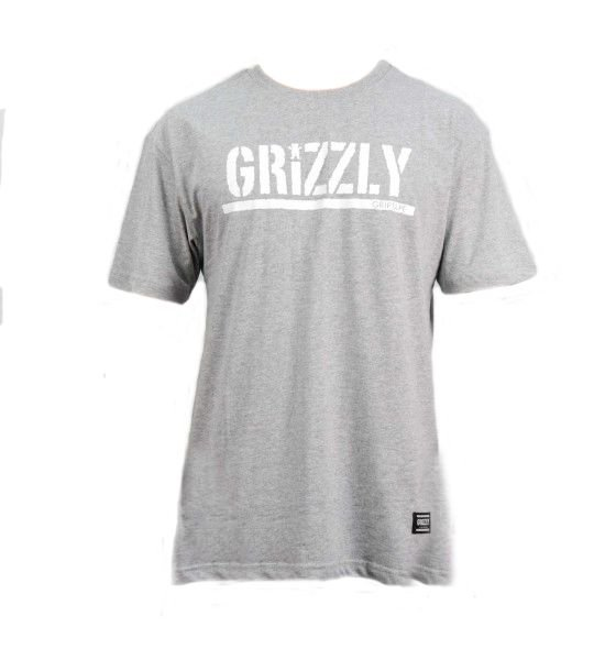 CAMISETA GRIZZLY STAMPED - GRAY HEATHER