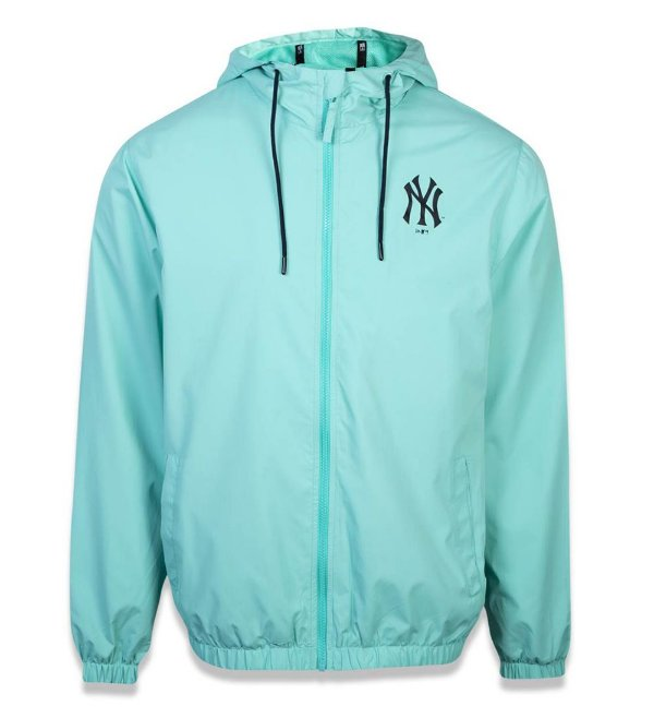 JAQUETA NEW ERA CORTA VENTO (WINDBREAKER) YANKEES MLB - VERDE ÁGUA