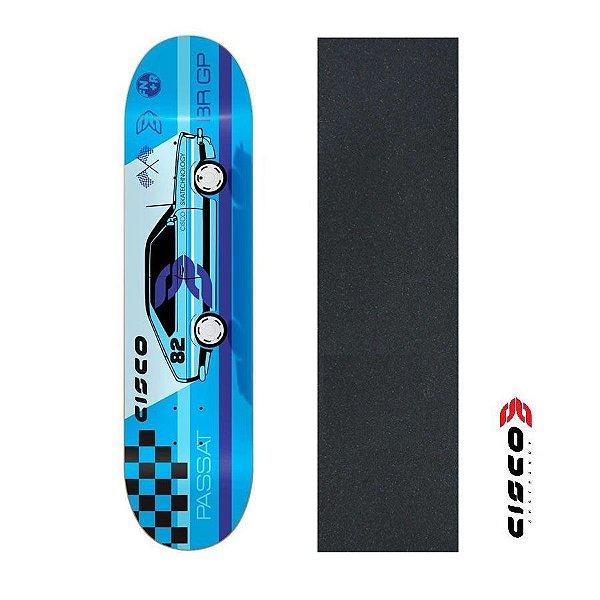 """Shape de Skate Cisco Marfim Passat 8.125"""" + Lixa Grátis"""