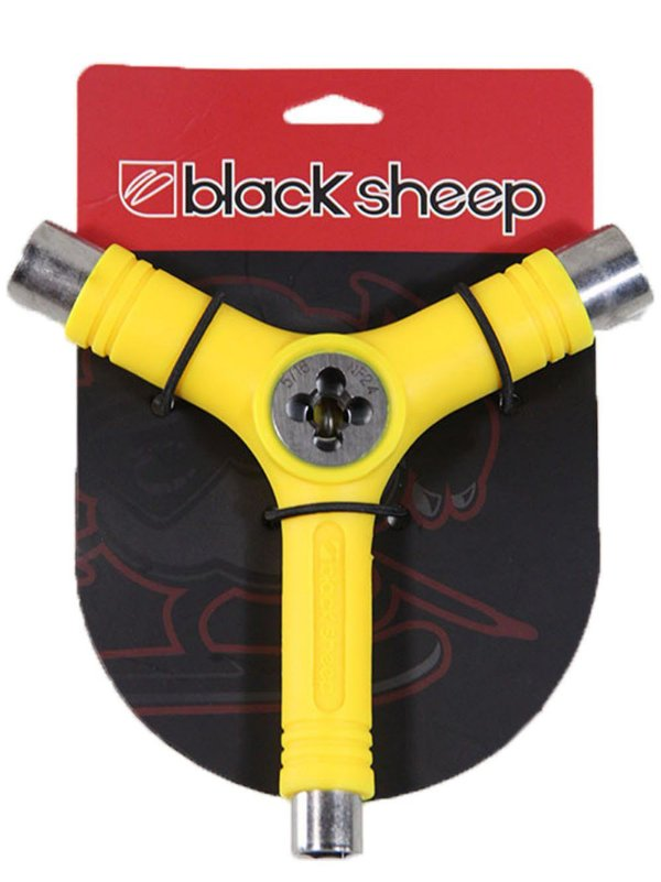 CHAVE MULTIFUNCIONAL BLACK SHEEP TRI-SOCKET AMARELA