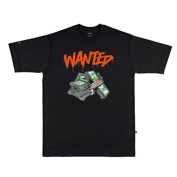 Camiseta Wanted – Authentic - Preta