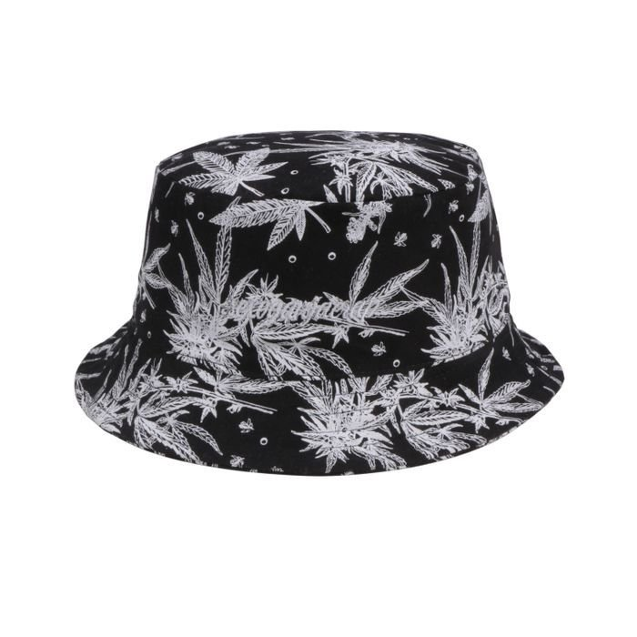 BUCKET HAT CHRONIC DUPLA FACE HERBS - PRETO