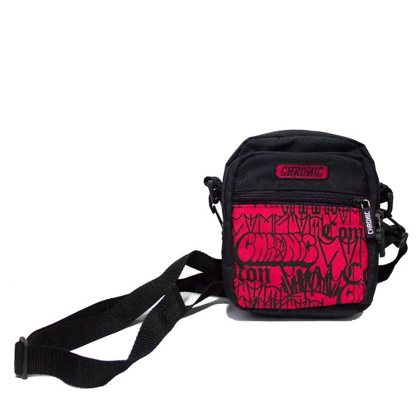 SHOULDER BAG CHRONIC BOMBS LOGO RED