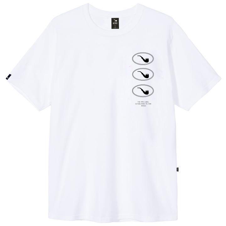 Camiseta blaze supply Tee Circle Pipes Branca