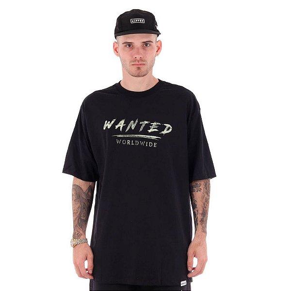 Camiseta Wanted – Signature Dollar - Preta