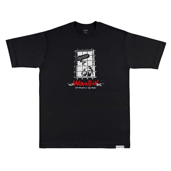 Camiseta Wanted – Behind Bar - Preta