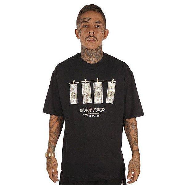 Camiseta Wanted – Dollar - Preta