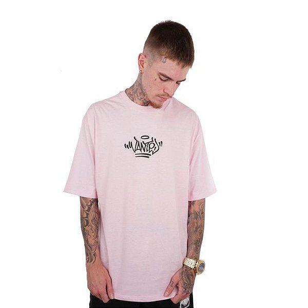 Camiseta Wanted – Logo Pixo - Rosa