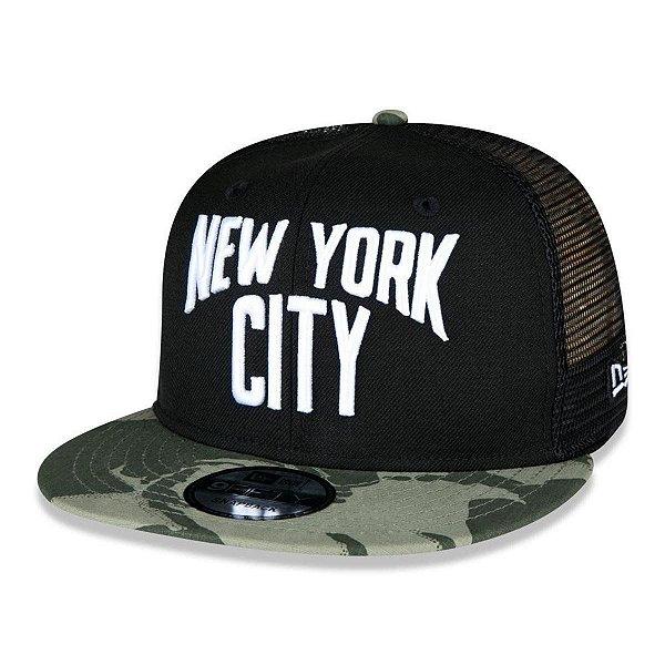 Boné New Era 9FIFTY Camo Corrosion New York City - Preto