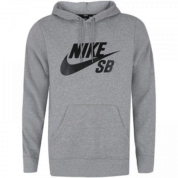 Moletom Nike SB Icon - cinza mescla