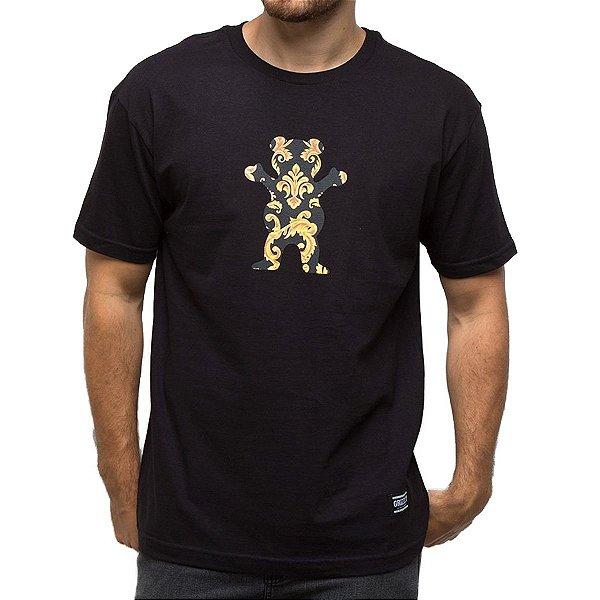 Camiseta Grizzly Gold Leaf Bear Tee - Preto