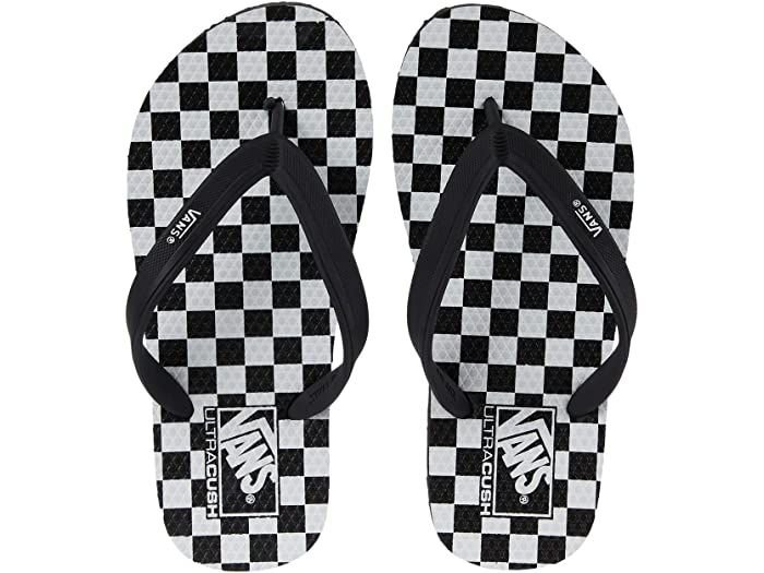 Chinelo Vans Makena Checkerboard Preto/Branco