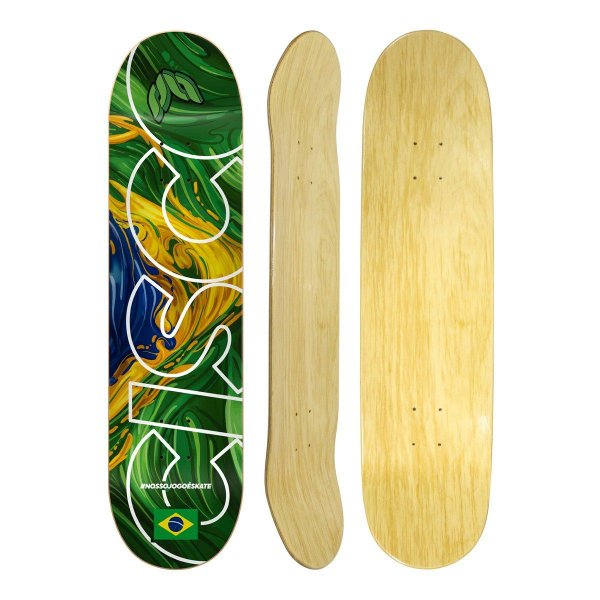 Shape Cisco skateboard Braza - #Nossojogoéskate + Liza Grátis