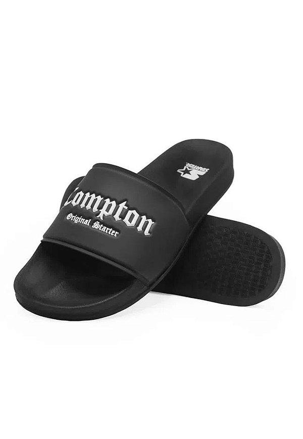 Chinelo Starter Slide-on Compton Preto