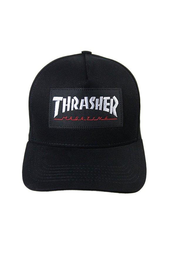Boné Thrasher Logo Patch - Preto