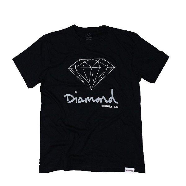 CAMISETA DIAMOND OG SIGN TEE - BLACK