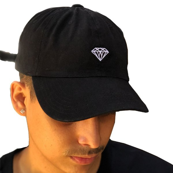 BONÉ DIAMOND MICRO BRILLIANT DAD HAT CLASSIC - BLACK