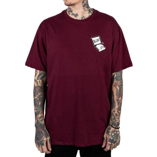 CAMISETA BLUNT BOX PIZZA - VINHO