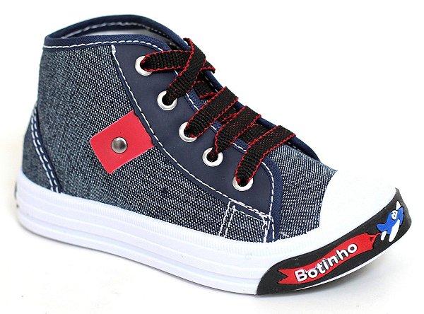 Botinha Masculina Infantil Kids Jeans/Vermelho Botinho 817HA