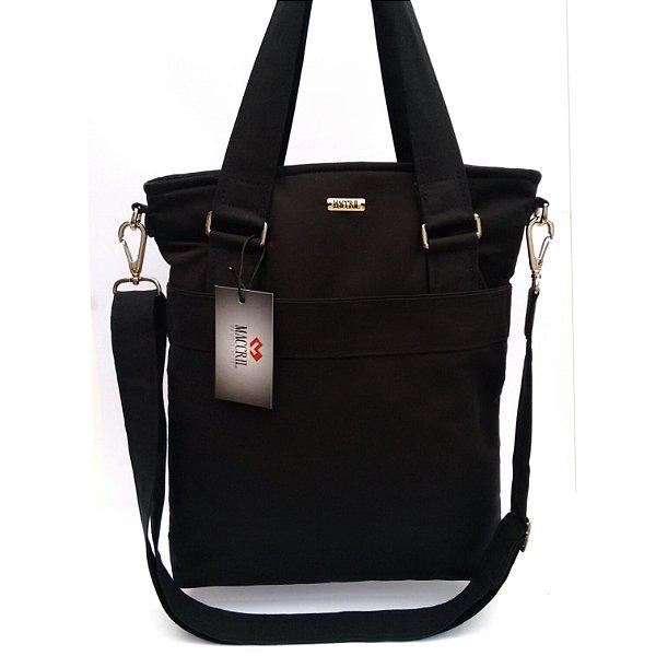 Bolsa tiracolo em tecido preto