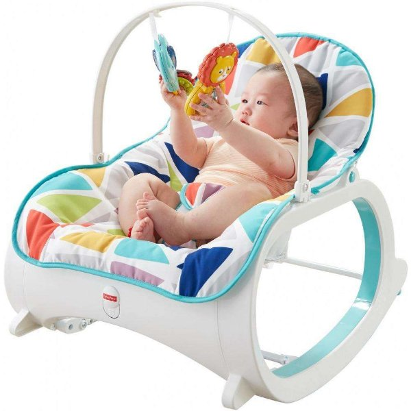 Cadeira de Descanso Infant-to-Toddler Rocker  - Green with Removable Toy Bar