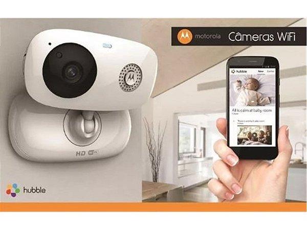 Camêra de Monitoramento HD WI-FI e Visao Noturna Focus 66 Branca - babá eletrônica