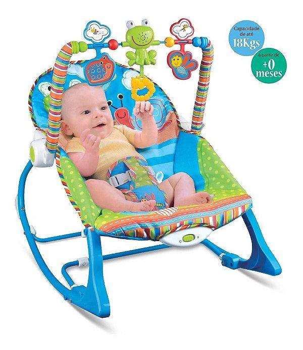 Cadeira de Descanso Vibratória Fisher-Price Crescendo Comigo Sapinho
