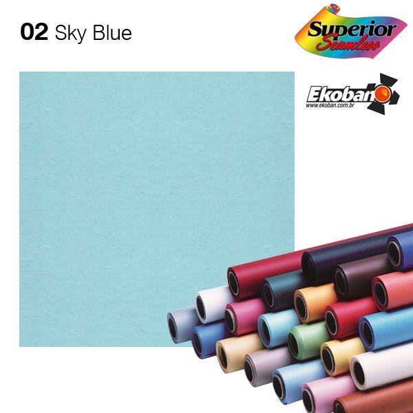Fundo de Papel Sky Blue 2,72 x 11m