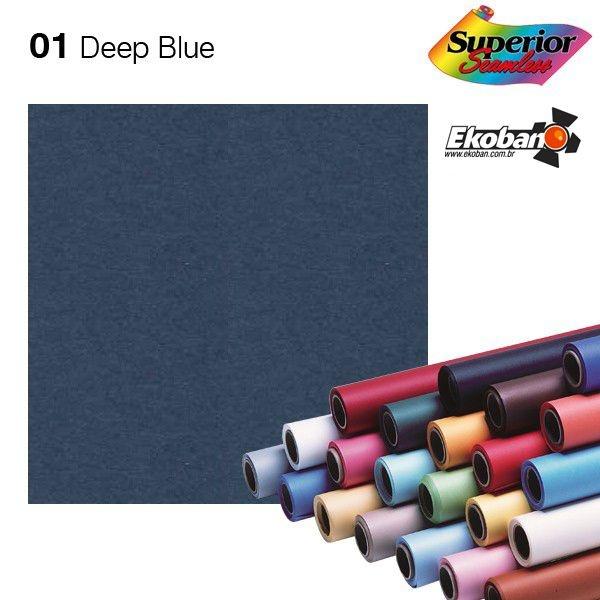 Fundo de Papel Deep Blue Superior Seamless 2,72 x 11m