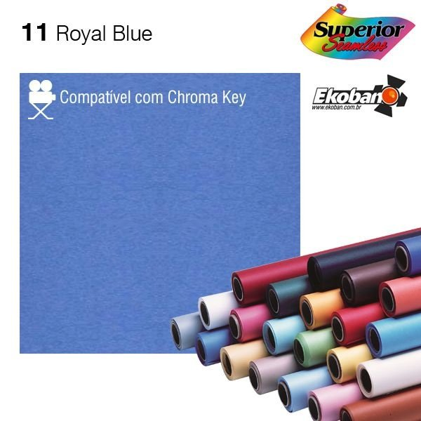 Fundo de Papel Royal Blue 2,72 x 11m