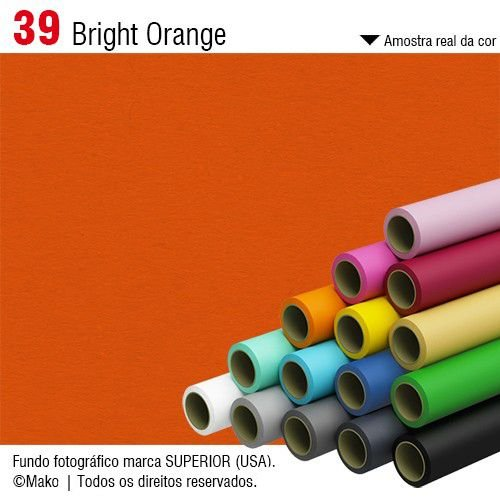 Fundo de Papel Bright Orange 2,72 x 11m