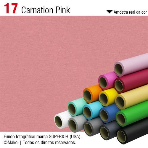 Fundo de Papel Carnation Pink 2,72 x 11m