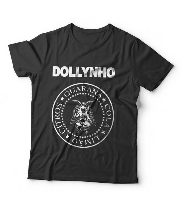 Camiseta Dollynho Baphomet - Ramones preta - Baphollynho
