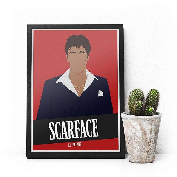 Quadro Scarface - Pôster minimalista