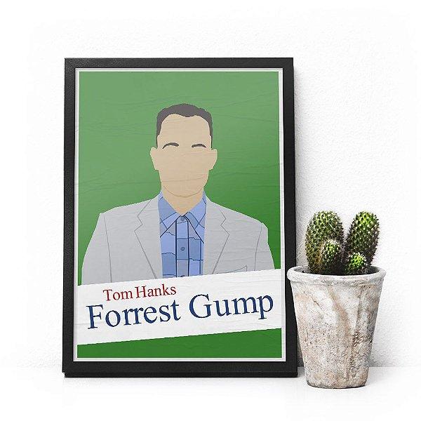 Quadro Forrest Gump - Pôster minimalista