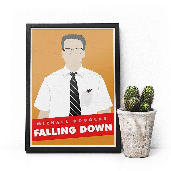 Quadro Falling Down - Pôster minimalista Um dia de fúria