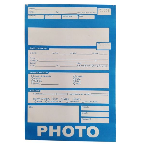100 - Envelope com numeração Kodak Amarelo