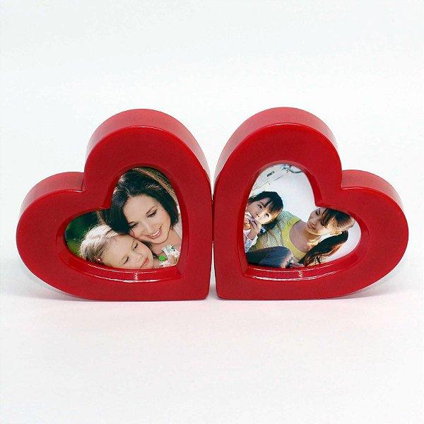 5 Porta Retratos Coração duplo