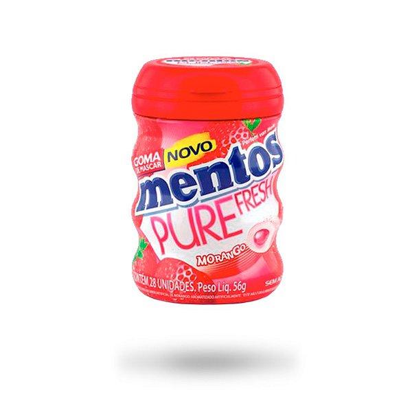 MENTOS CHICLE PURE FRUIT MORANGO 56g