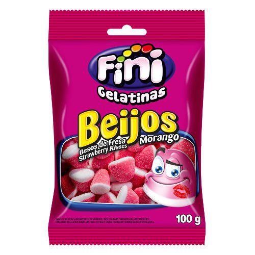 FINI GULOSEIMAS BEIJOS DE MORANGO 100g