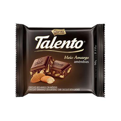 GAROTO CHOCOLATE TALENTO MEIO AMARGO 25g